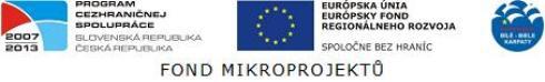 OP Přeshraniční spolupráce SK-ČR, Fond mikroprojektů